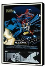 Tron - 20 x 40 Movie Poster - UK Style A - Museum Wrapped Canvas