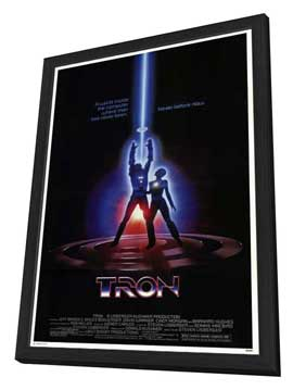 Tron - 11 x 17 Movie Poster - Style B - in Deluxe Wood Frame