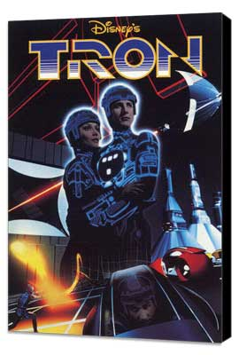 Tron - 11 x 17 Movie Poster - Style F - Museum Wrapped Canvas
