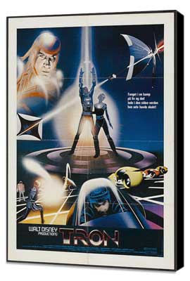 Tron - 11 x 17 Movie Poster - Swedish Style A - Museum Wrapped Canvas