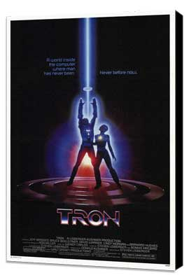 Tron - 27 x 40 Movie Poster - Style B - Museum Wrapped Canvas