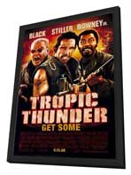 Tropic Thunder - 11 x 17 Movie Poster - Style D - in Deluxe Wood Frame