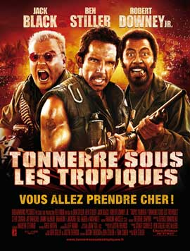 Tropic Thunder - 27 x 40 Movie Poster - French Style A