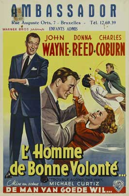 Trouble Along the Way - 11 x 17 Movie Poster - Belgian Style A