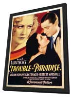 Trouble in Paradise - 27 x 40 Movie Poster - Style A - in Deluxe Wood Frame