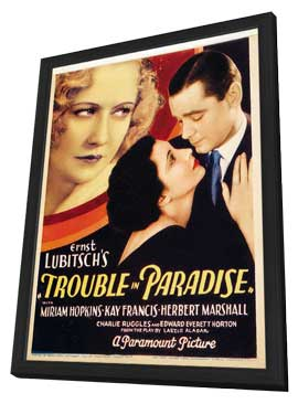 Trouble in Paradise - 11 x 17 Movie Poster - Style A - in Deluxe Wood Frame