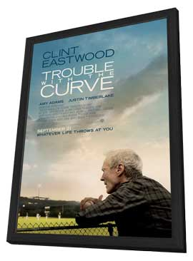 Trouble with the Curve - 11 x 17 Movie Poster - Style A - in Deluxe Wood Frame