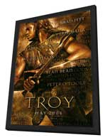 Troy - 11 x 17 Movie Poster - Style A - in Deluxe Wood Frame