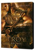 Troy - 11 x 17 Movie Poster - Style A - Museum Wrapped Canvas