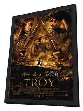 Troy - 11 x 17 Movie Poster - Style B - in Deluxe Wood Frame