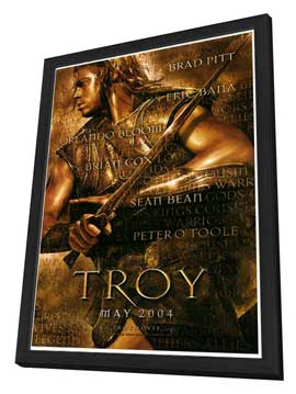 Troy - 27 x 40 Movie Poster - Style A - in Deluxe Wood Frame