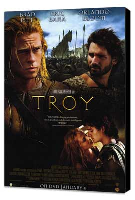 Troy - 11 x 17 Movie Poster - Style I - Museum Wrapped Canvas