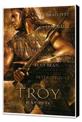 Troy - 27 x 40 Movie Poster - Style A - Museum Wrapped Canvas
