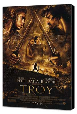 Troy - 27 x 40 Movie Poster - Style B - Museum Wrapped Canvas