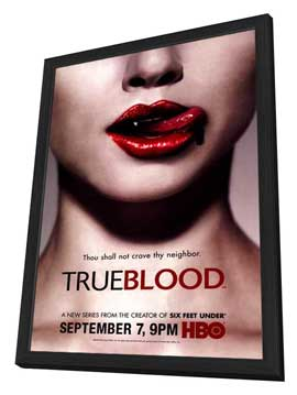 True Blood (TV) Season 1 - 27 x 40 TV Poster - Style A - in Deluxe Wood Frame