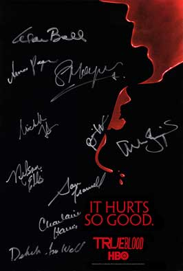 True Blood (TV) Season 2 - 27x40 TV Poster - Cast Signatures