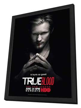 True Blood (TV) Season 2 - 11 x 17 Season 2 Character Poster - Alexander Skarsgard [Eric] - in Deluxe Wood Frame