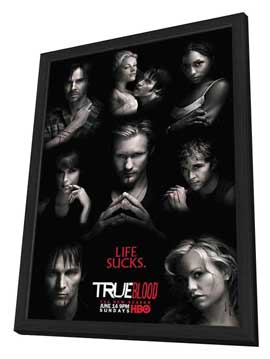 True Blood (TV) Season 2 - 11 x 17 TV Poster - Style K - in Deluxe Wood Frame