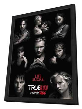 True Blood (TV) Season 2 - 27 x 40 TV Poster - Style C - in Deluxe Wood Frame