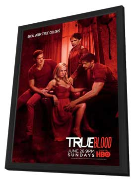 True Blood (TV) Season 4 - 27 x 40 TV Poster - Style D - in Deluxe Wood Frame