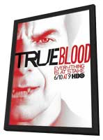 True Blood (TV) Season 5 - 11 x 17 TV Poster - Style J - in Deluxe Wood Frame