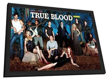 True Blood (TV) Season 5 - 11 x 17 TV Poster - Style A - in Deluxe Wood Frame