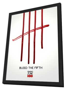 True Blood (TV) Season 5 - 11 x 17 TV Poster - Style N - in Deluxe Wood Frame