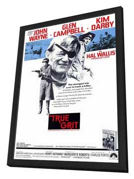 True Grit - 11 x 17 Movie Poster - Style A - in Deluxe Wood Frame
