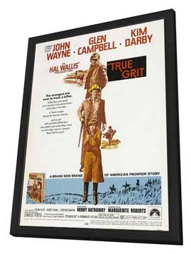True Grit - 11 x 17 Movie Poster - Style B - in Deluxe Wood Frame