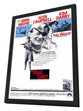 True Grit - 27 x 40 Movie Poster - Style A - in Deluxe Wood Frame