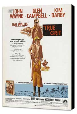 True Grit - 11 x 17 Movie Poster - Style B - Museum Wrapped Canvas