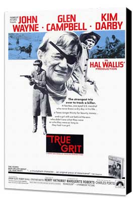 True Grit - 27 x 40 Movie Poster - Style A - Museum Wrapped Canvas