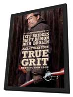 True Grit - 27 x 40 Movie Poster - Style D - in Deluxe Wood Frame