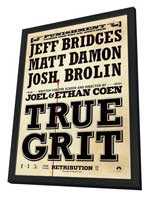 True Grit - 27 x 40 Movie Poster - Style J - in Deluxe Wood Frame