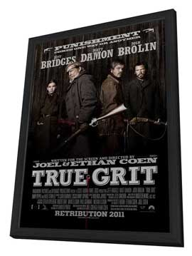 True Grit - 11 x 17 Movie Poster - Style E - in Deluxe Wood Frame