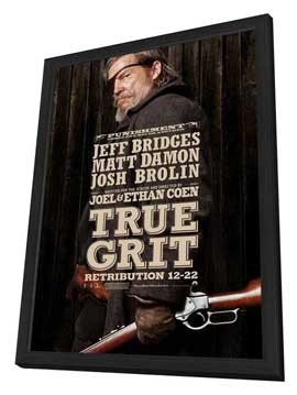 True Grit - 11 x 17 Movie Poster - Style F - in Deluxe Wood Frame