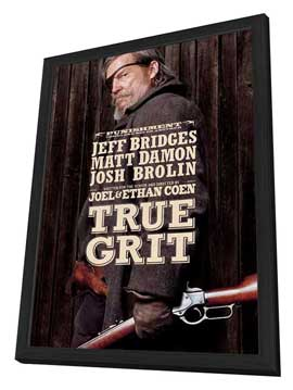 True Grit - 27 x 40 Movie Poster - Style B - in Deluxe Wood Frame