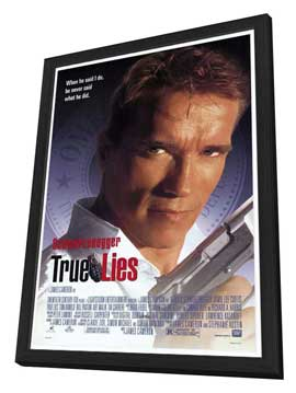 True Lies - 27 x 40 Movie Poster - Style A - in Deluxe Wood Frame