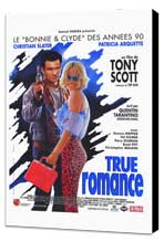 True Romance - 27 x 40 Movie Poster - French Style A - Museum Wrapped Canvas