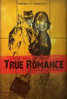 True Romance - 27 x 40 Movie Poster - Russian Style B
