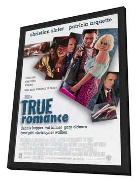 True Romance - 11 x 17 Movie Poster - Style A - in Deluxe Wood Frame