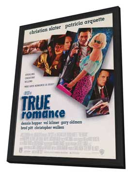 True Romance - 27 x 40 Movie Poster - Style A - in Deluxe Wood Frame