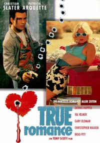 True Romance - 11 x 17 Movie Poster - German Style B - Museum Wrapped Canvas