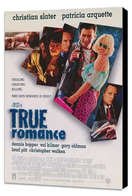 True Romance - 27 x 40 Movie Poster - Style A - Museum Wrapped Canvas