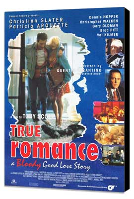 True Romance - 27 x 40 Movie Poster - Style B - Museum Wrapped Canvas