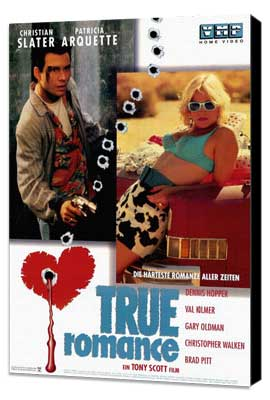True Romance - 27 x 40 Movie Poster - German Style B - Museum Wrapped Canvas
