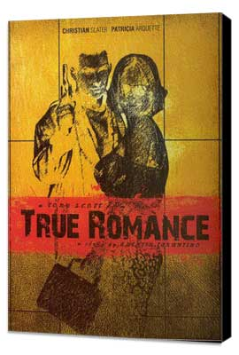True Romance - 27 x 40 Movie Poster - Russian Style B - Museum Wrapped Canvas