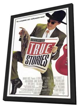 True Stories - 11 x 17 Movie Poster - Style A - in Deluxe Wood Frame
