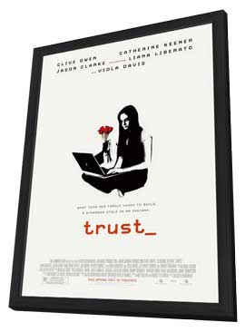 Trust - 11 x 17 Movie Poster - Style B - in Deluxe Wood Frame