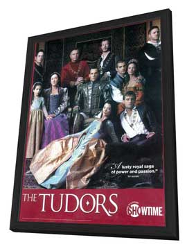 The Tudors - 27 x 40 TV Poster - Style A - in Deluxe Wood Frame